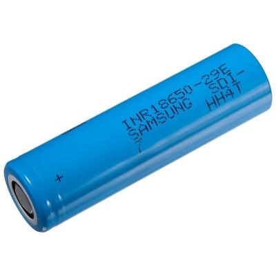 Li-Ion промышленный аккумулятор Samsung INR 18650 29E E7 ёмкостью 2900 mAh без платы защиты. 8.25A.