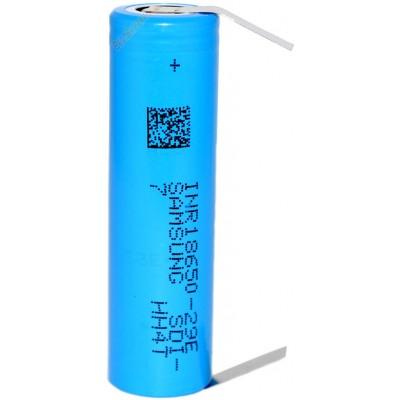 Li-Ion аккумулятор Samsung INR 18650 29E 2900 mAh без защиты с лепестками под пайку (Solder Tags).