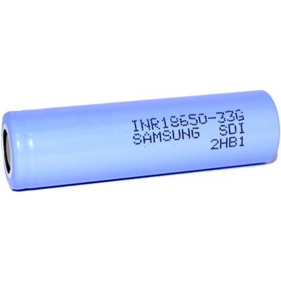 Li-Ion аккумулятор Samsung 33G INR 18650 ёмкостью 3300 mAh без защиты (промышленный АКБ).
