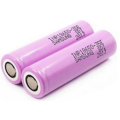 Li-Ion аккумулятор Samsung INR 18650 35E ёмкостью 3500 mAh без защиты (промышленный АКБ).