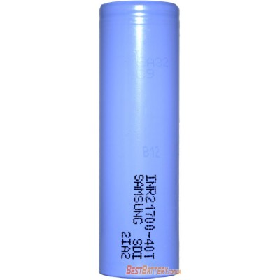 Высокотоковый Li-Ion аккумулятор Samsung 21700 40T ёмкостью 4000 mAh без защиты 35A (40A).