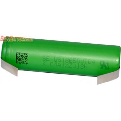 Высокотоковый Li-Ion аккумулятор 18650 Sony / Murata VTC4 2100 mAh с лепестками под пайку. Ток до 30A. Оригинал.