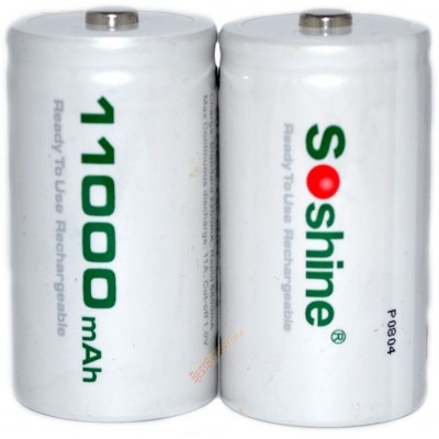 Ni-Mh аккумуляторы размера D (R20) Soshine RTU на 11000 mAh c низким саморазрядом. Цена за 1 шт.