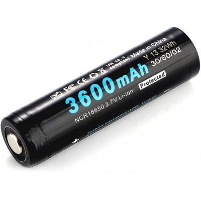 Li-Ion аккумулятор Soshine 18650 3,7V 3600 mAh с платой защиты. Высокая реальная ёмкость.