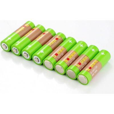 Li-Ion АА аккумуляторы Soshine 1.5V 2200 mWh поштучно. Рабочее напряжение 1.5В. Цена за 1 шт.