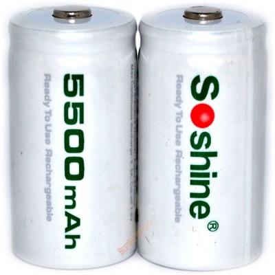 Ni-Mh аккумуляторы размера С (R14) Soshine RTU на 5500 mAh c низким саморазрядом. Цена за 1 шт.