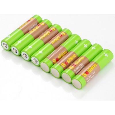 Li-Ion ААА аккумуляторы Soshine 1.5V 600 mWh поштучно. Рабочее напряжение 1.5В. Цена за 1 шт.
