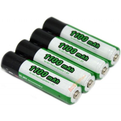 Минипальчиковые аккумуляторы Soshine 1100 mAh поштучно. Повышенная ёмкость. Цена за 1 шт.