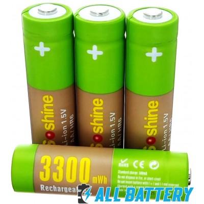 Комплект зарядное Soshine USB Chocolate 1.5V и 4 шт. АА аккумулятора Soshine Li-Ion 1.5В 3300 mWh + Бокс.