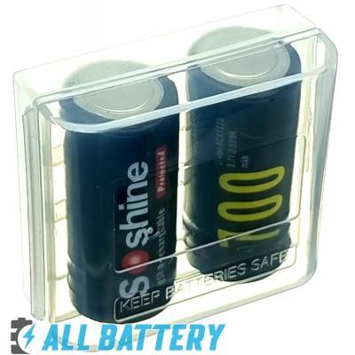 Аккумулятор 16340 Soshine USB 700 mAh Li-Ion 3.7V, 2.1А (RCR123A). Встроенное зарядное с USB.
