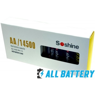 Аккумулятор АА Soshine USB 1.5V Li-Ion 2400 mАh, 4 шт. + Бокс. Пальчиковые АКБ на 1.5 В с USB зарядным. Цена за уп. 4 шт.