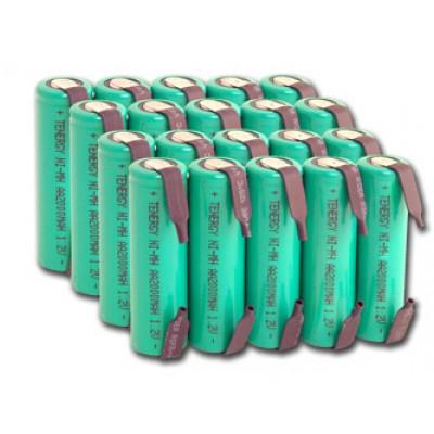 Пальчиковые АА аккумуляторы Tenergy 2000 mAh Solder Tags - с лепестками под пайку. Цена за 1 шт.