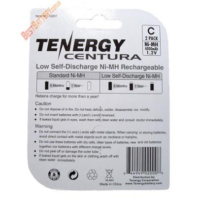 Аккумуляторы размера С (R14) Tenergy Centura LSD на 4000 mAh (Ni-Mh). Низкосаморазрядные. Цена за 1 шт.