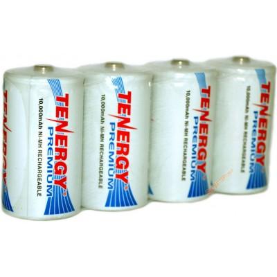 Аккумуляторы размера D (R20) Tenergy Premium на 10000 mAh (Ni-Mh). Высокая ёмкость. Цена за 1 шт.