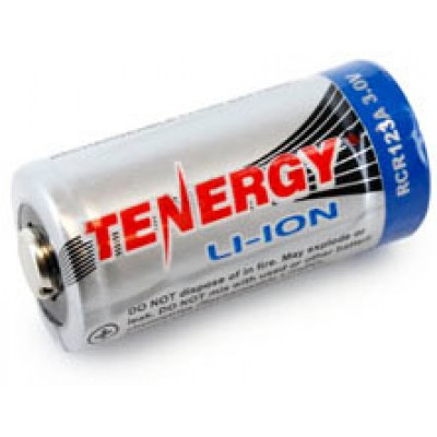 Li-ion аккумулятор Tenergy 16340 (RCR123A) 3.0V 600mAh.