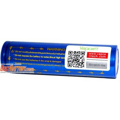 Li-Ion высокотоковый аккумулятор VapCell INR 18650 K28 Blue ёмкостью 2800 mAh без защиты. 20A (35A).