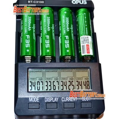 Li-Ion высокотоковый аккумулятор VapCell INR 18650 F35 Green ёмкостью 3500 mAh без защиты. 10A (20A), аналог Sanyo NCR 3500 GA.