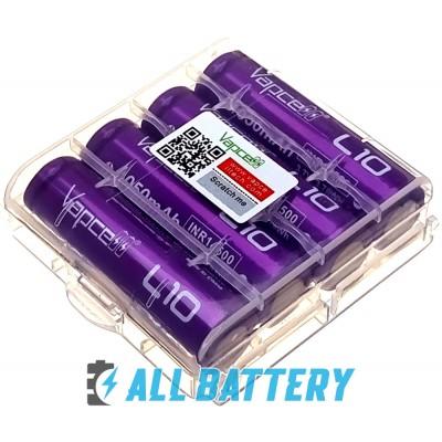 Аккумулятор 14500 (AA) Vapcell L10 1050 mAh Li-Ion INR 3.7В, 3А, без защиты. Реальная высокая ёмкость.
