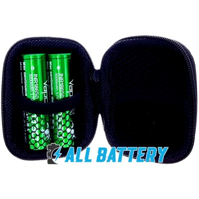 Аккумулятор 18650 VapCell G30 3000 mAh Li-Ion INR, 3.7В, 15А (35A), Green. Без защиты (аналог Samsung 30Q).