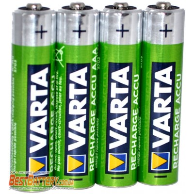 Varta Pro 1000 mAh Recharge Accu Power в боксе, ААА, RTU. Цена за уп. 4 шт.