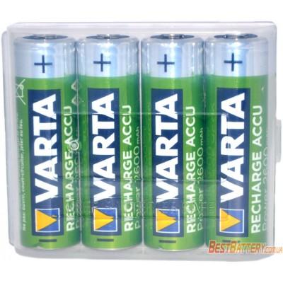 Varta Pro 2600 mAh Recharge Accu Power 4 шт. в боксе. АА аккумуляторы Varta повышенной ёмкости.