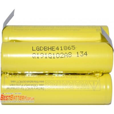 Аккумуляторная сборка 5S1P 2500 mAh 18,5В для шуруповерта на базе аккумуляторов 18650 LG HE4.