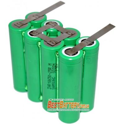 Аккумуляторная сборка 4S2P 5000 mAh 14,8В на базе аккумуляторов 18650 Samsung 25R.