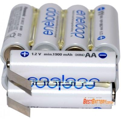 Аккумуляторная сборка на 2000 mAh 12В 10S1P на базе японских Panasonic Eneloop AA BK-3MCCE (10 x Eneloop).