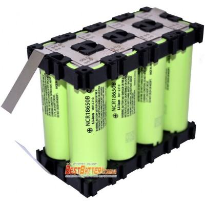 Аккумуляторная сборка 27200 mAh 3,7В 1S8P на базе Li-Ion 18650 Panasonic NCR18650B (8 x NCR18650B).