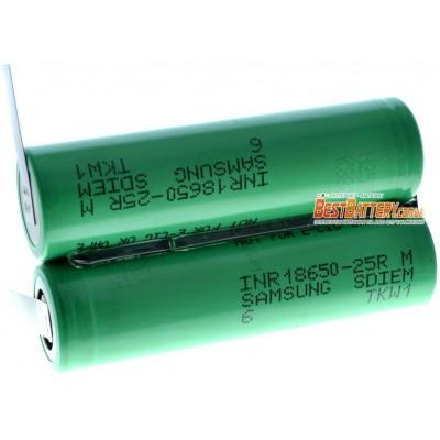 Аккумуляторная сборка 7,4В 2500 mAh 2S1P на базе Li-Ion 18650 Samsung 25R (2 x 25R).