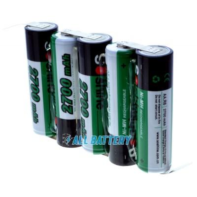 Аккумуляторная сборка на 2700 mAh 6В (5В-7.5В) 5S 1P на базе АА аккумуляторов Soshine 2700 mAh (5 x Soshine 2700).