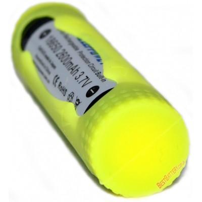 Силиконовый чехол желтого цвета на 1 аккумулятор формата 18650. Разные цвета.