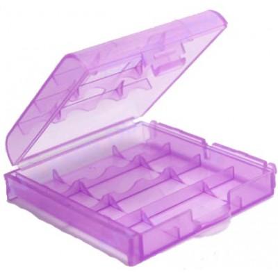 Розовый пластиковый бокс  для пальчиковых АА и минипальчиковых ААА аккумуляторов.
