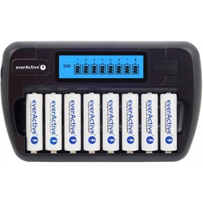 Зарядное устройство на 8 аккумуляторов Ever Active NC 800 с Автоадаптером. Для АА и ААА.