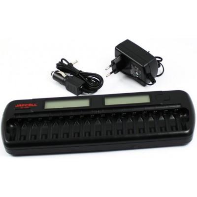 Многоканальное зарядное устройство Japcell BC-1600 -  16 независимых каналов + Автоадаптер.
