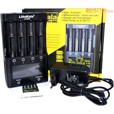 Зарядное устройство LiitoKala Lii-500S на 4 Ni-Mh, Ni-Cd и Li-ion аккумулятора с функцией Power Bank + Автоадаптер.