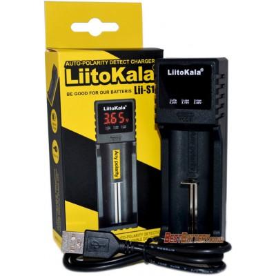 Универсальное зарядное устройство LiitoKala Lii-S1 для АА, ААА, 18650, 16340 и др. с цифровым дисплеем.