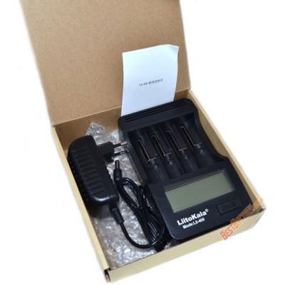 Универсальное зарядное устройство LiitoKala Lii-400, 4 канала Ni-Mh, Ni-Cd и Li-ion + Power Bank.