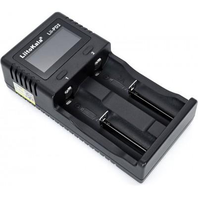 LiitoKala Lii-PD2 - зарядное на 2 канала для Li-Ion, LiFePO4, Ni-Mh/Ni-Cd с дисплеем. Ток заряда - 2А. Оригинал.