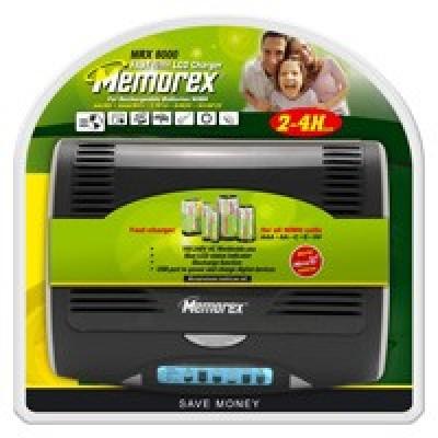 Memorex MRX 8000 - универсальное быстрое зарядное устройство для всех размеров Ni-Cd/Ni-MH аккумуляторов.