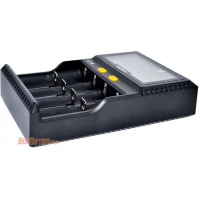 Зарядное устройство Miboxer C4 с дисплеем для Li-Ion, IMR, LiFePO4, Ni-Mh и Ni-Cd аккумуляторов. 4 канала.