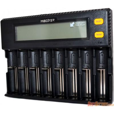 Универсальное зарядное устройство Miboxer C8 на 8 аккумуляторов. Универсальное для Ni-Mh, Li-Ion, LiFePO4.
