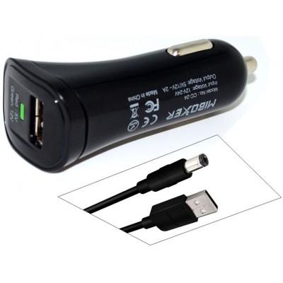 Оригинальный универсальный автоадаптер Miboxer CC 24 с USB выходом 5V / 12V 2A и кабелем в комплекте.