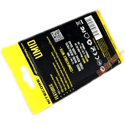 Nitecore UM10 - это универсальное зарядное устройство со встроенным дисплеем для Li-ion аккумуляторов с питанием от USB .