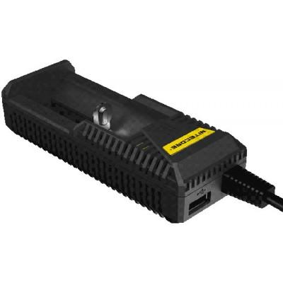 Универсальное зарядное устройство Nitecore Intellicharger i1 c EGO портом. Ток заряда до 1000 mA.