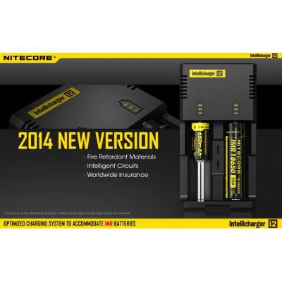 Универсальное зарядное устройство Nitecore Intellicharger i2 v2014 + Автоадаптер.