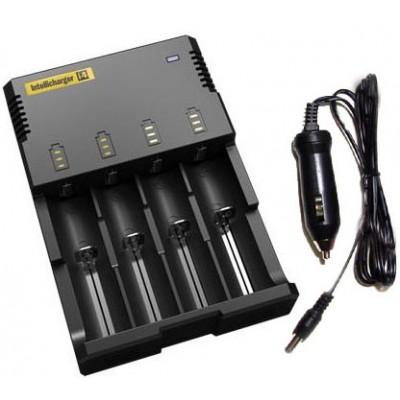 Универсальное зарядное устройство для Li ion, Ni Cd и Ni Mh Nitecore Intellicharger i4 2014 года + Автоадаптер в комплекте.