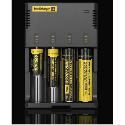 NEW Универсальное зарядное устройство Nitecore Intellicharger i4 2014 года. Для Li ion, Ni Cd и Ni Mh аккумуляторов.