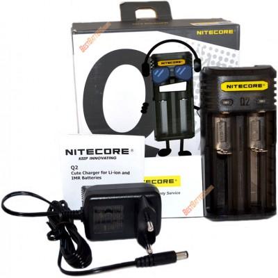 Зарядное устройство Nitecore Q2 черного цвета (Blackberry) для Li-Ion / IMR аккумуляторов. Ток 2А.
