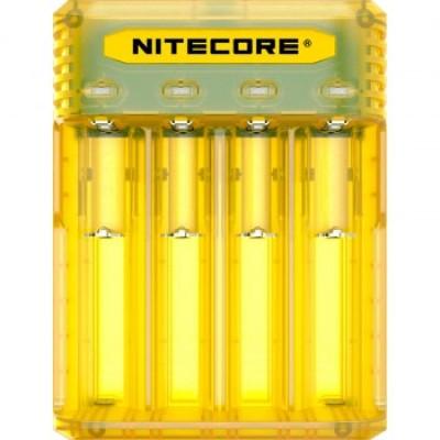 Зарядное устройство Nitecore Q4 желтого цвета (Juicy Mango) для Li-Ion / IMR аккумуляторов. Ток 2А.